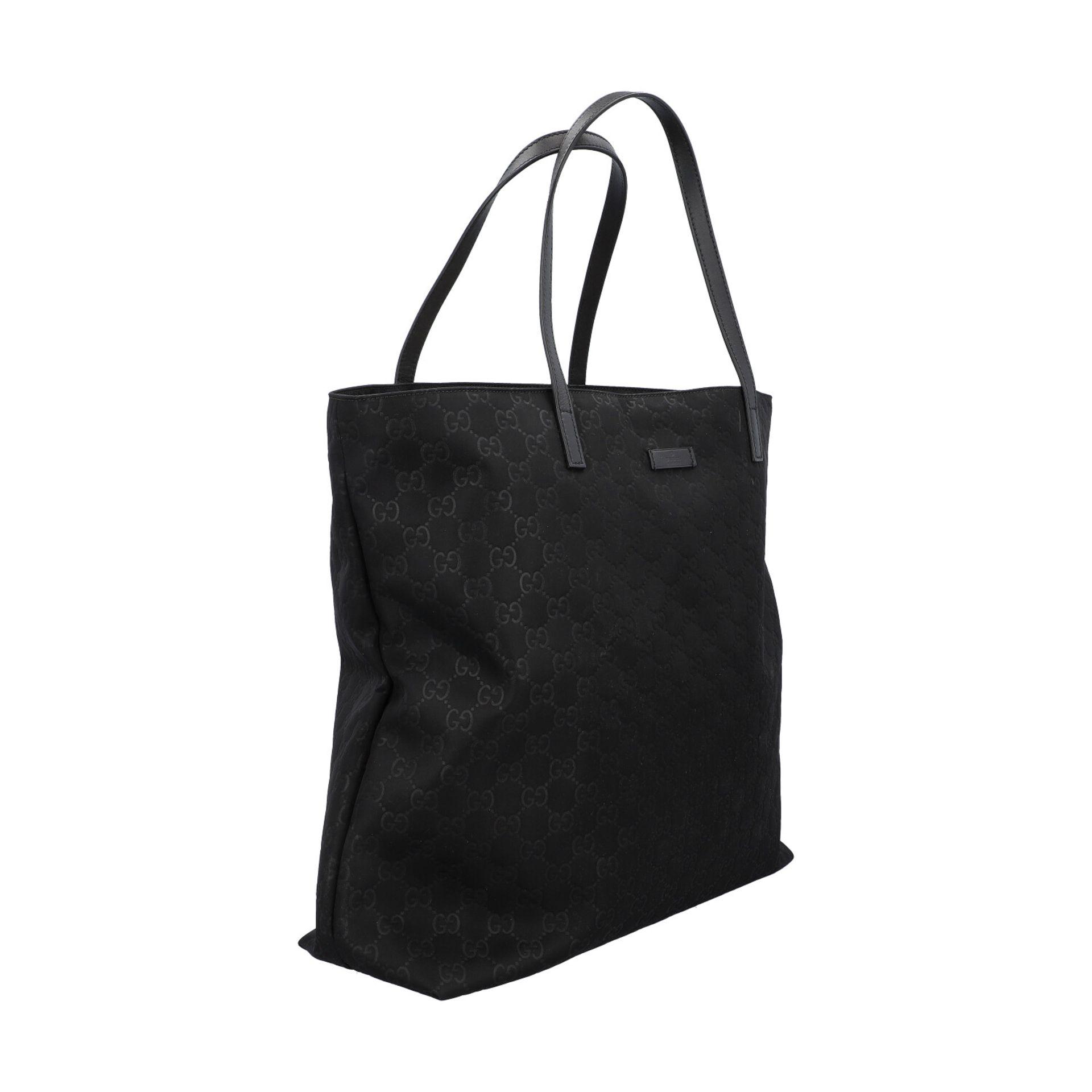 GUCCI Shoppertasche, NP. ca.: 1.000,-€. Textil in Schwarz mit GG-Supreme Muster und - Image 2 of 8