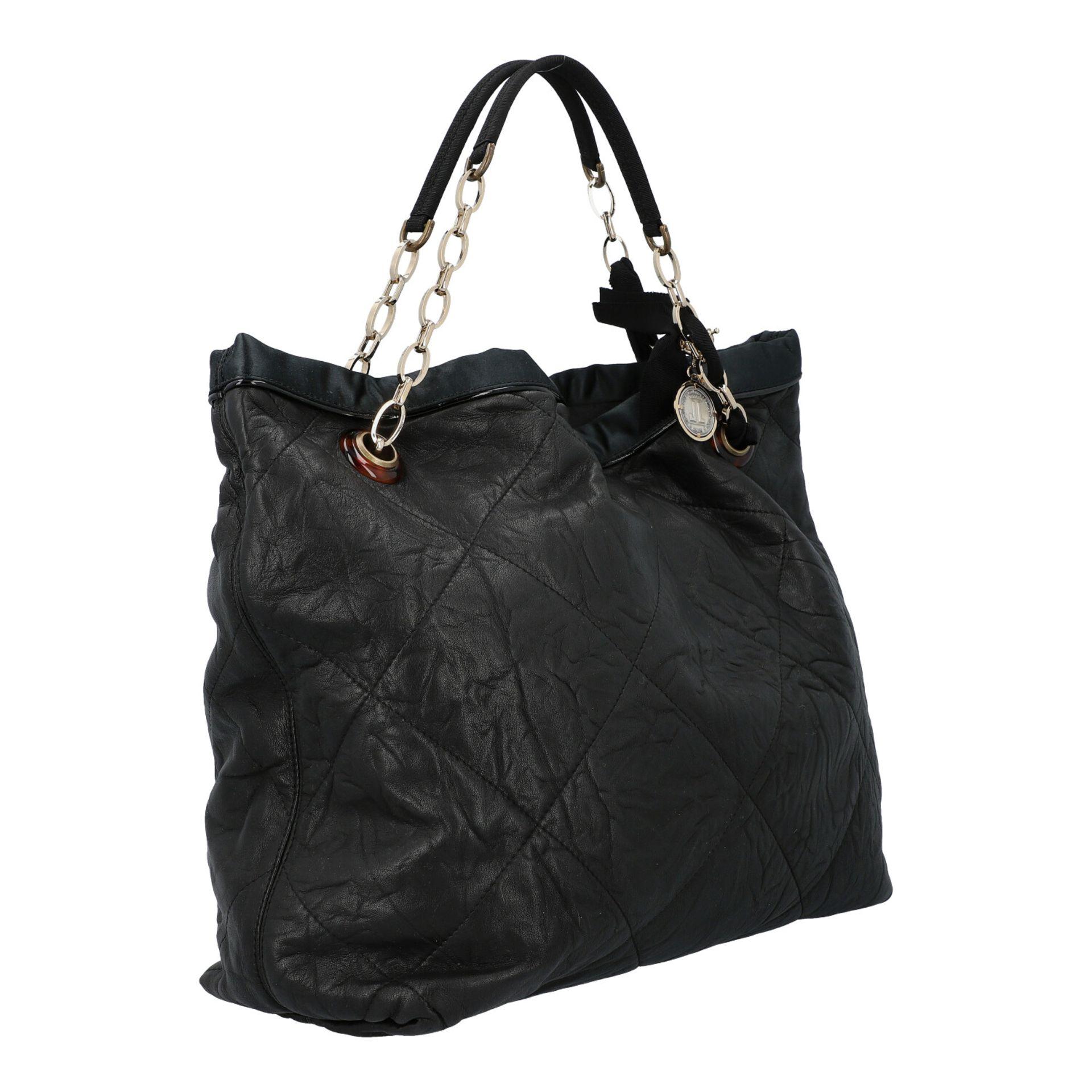 LANVIN Shoppertasche. Softes Leder in Schwarz mit Rautensteppung und dekorativen Trage - Image 2 of 8