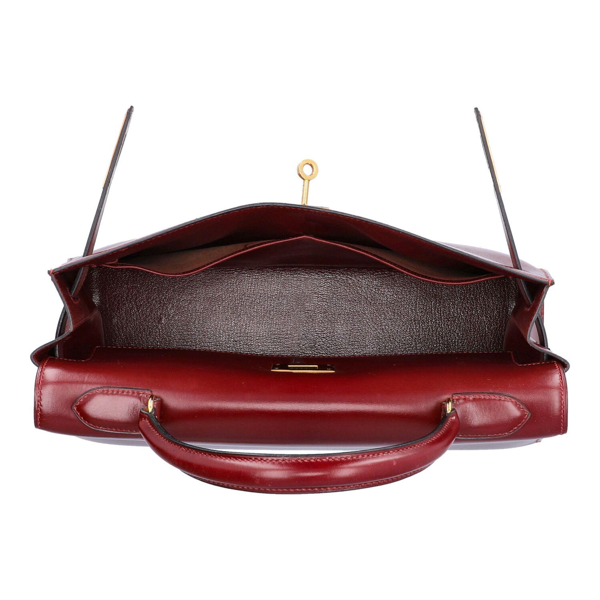 "HERMÈS VINTAGE Handtasche ""KELLY BAG 32"". Koll. 1980. NP. ca.: 8.000,-€. Boxcalf Le - Image 6 of 9"
