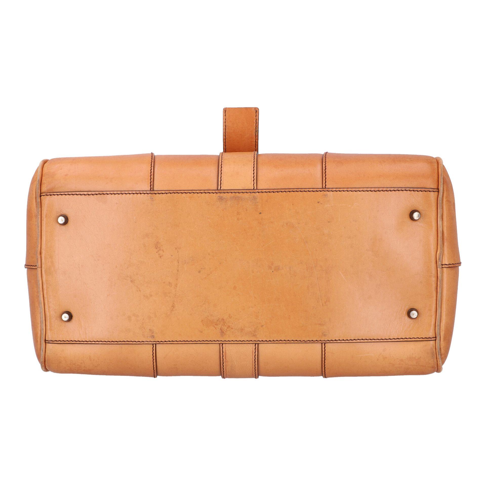PRADA Handtasche. Glattleder in Beige mit silberfarbener Hardware, stabiles Modell mit - Image 5 of 8