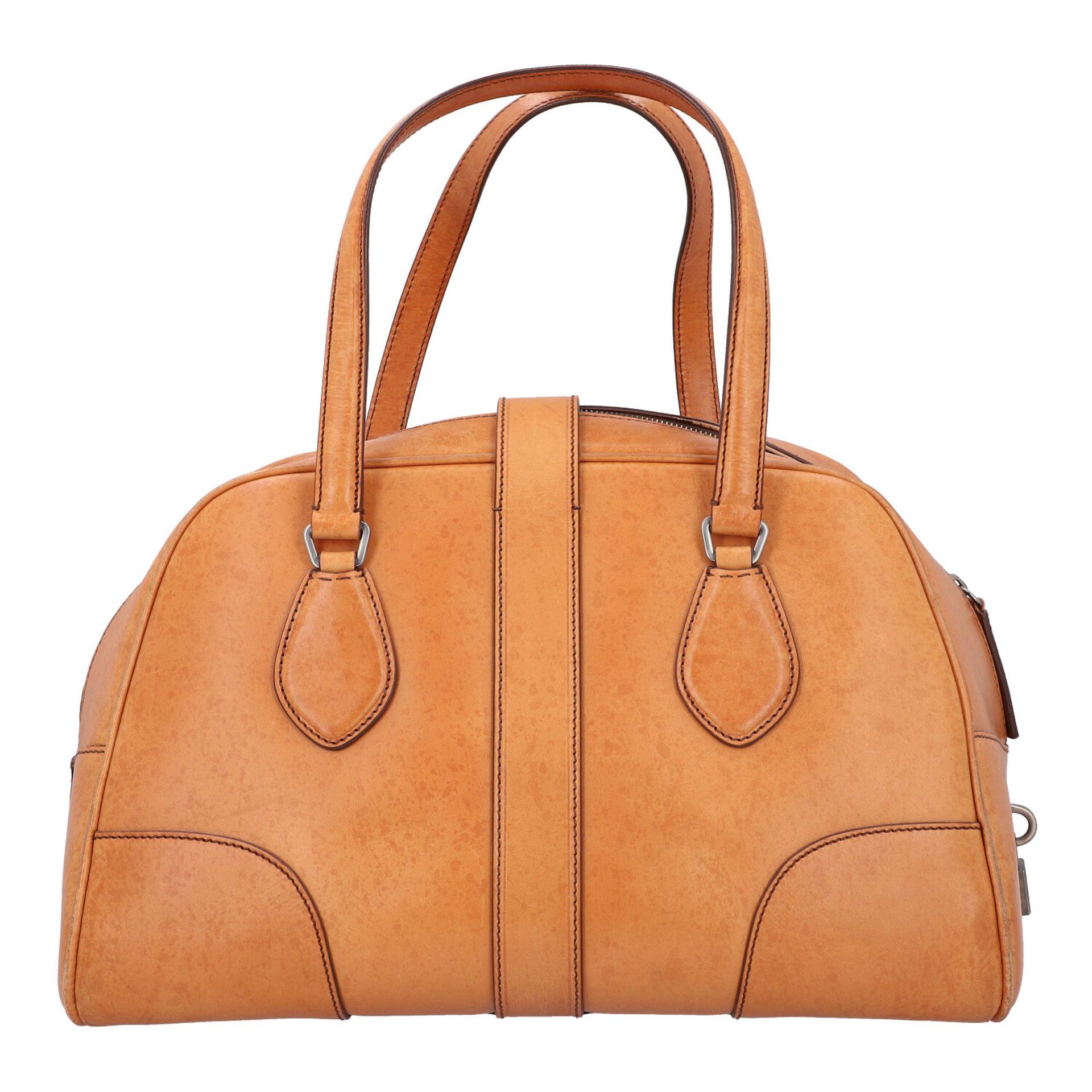 PRADA Handtasche. Glattleder in Beige mit silberfarbener Hardware, stabiles Modell mit - Image 4 of 8