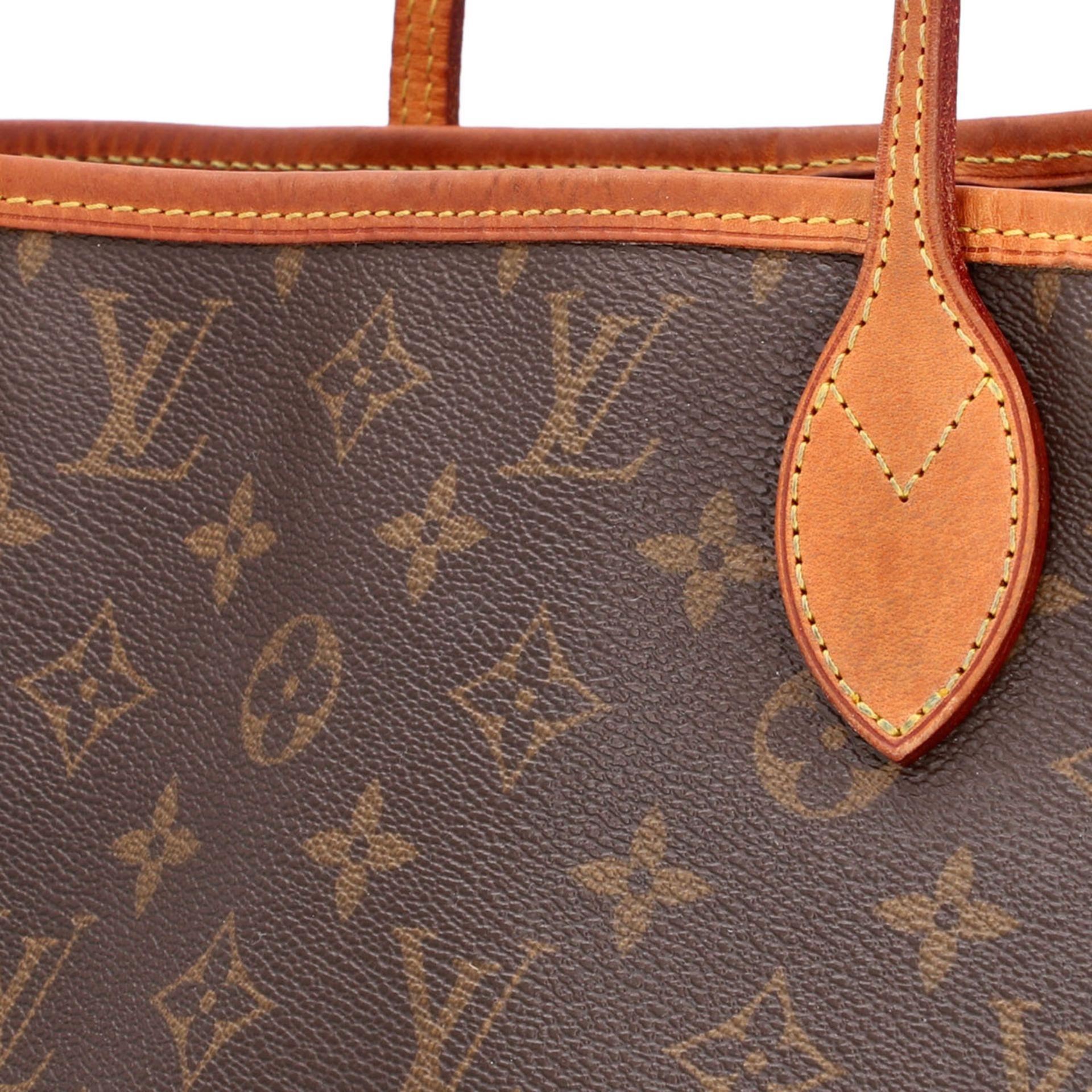 "LOUIS VUITTON Shopper ""NEVERFULL MM"", Koll.: 2011, akt. NP.: 1.150,-€. Monogram Canv - Image 7 of 8"