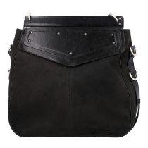 YVES SAINT LAURENT VINTAGE Handtasche. Schwarzes Modell aus Textil mit schwarzem Über