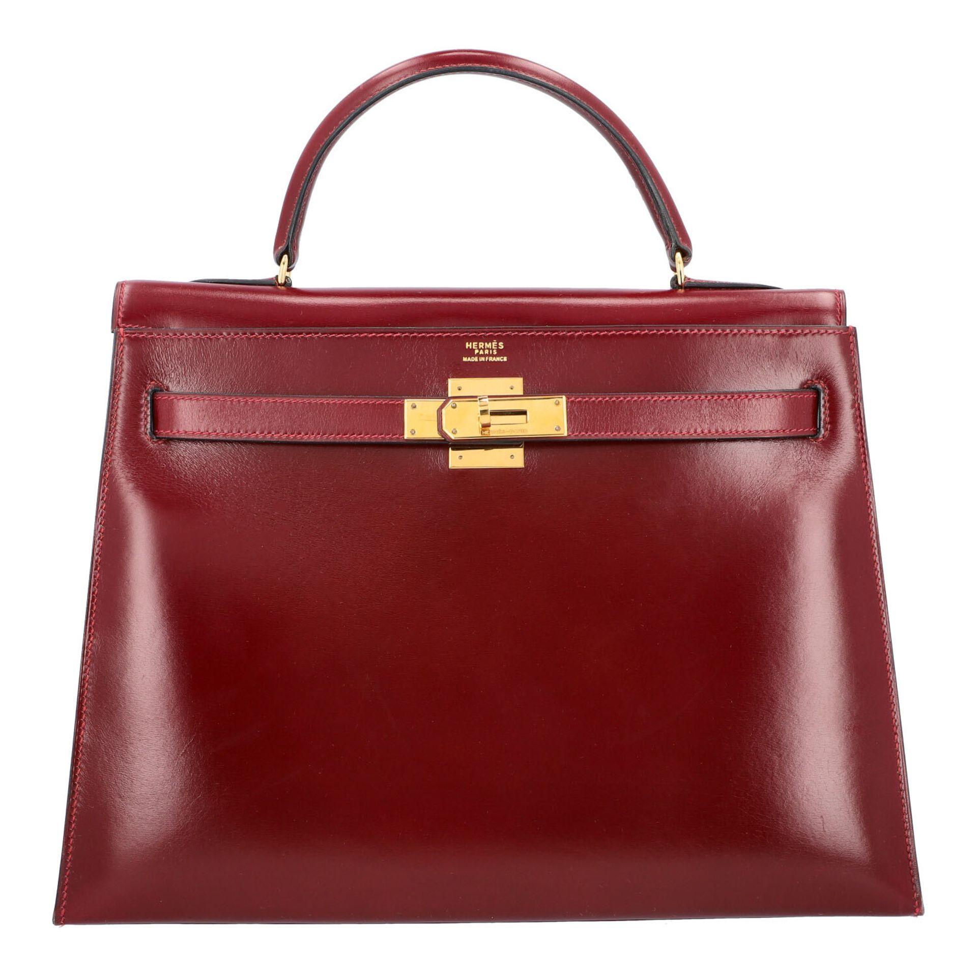 "HERMÈS VINTAGE Handtasche ""KELLY BAG 32"". Koll. 1980. NP. ca.: 8.000,-€. Boxcalf Le"