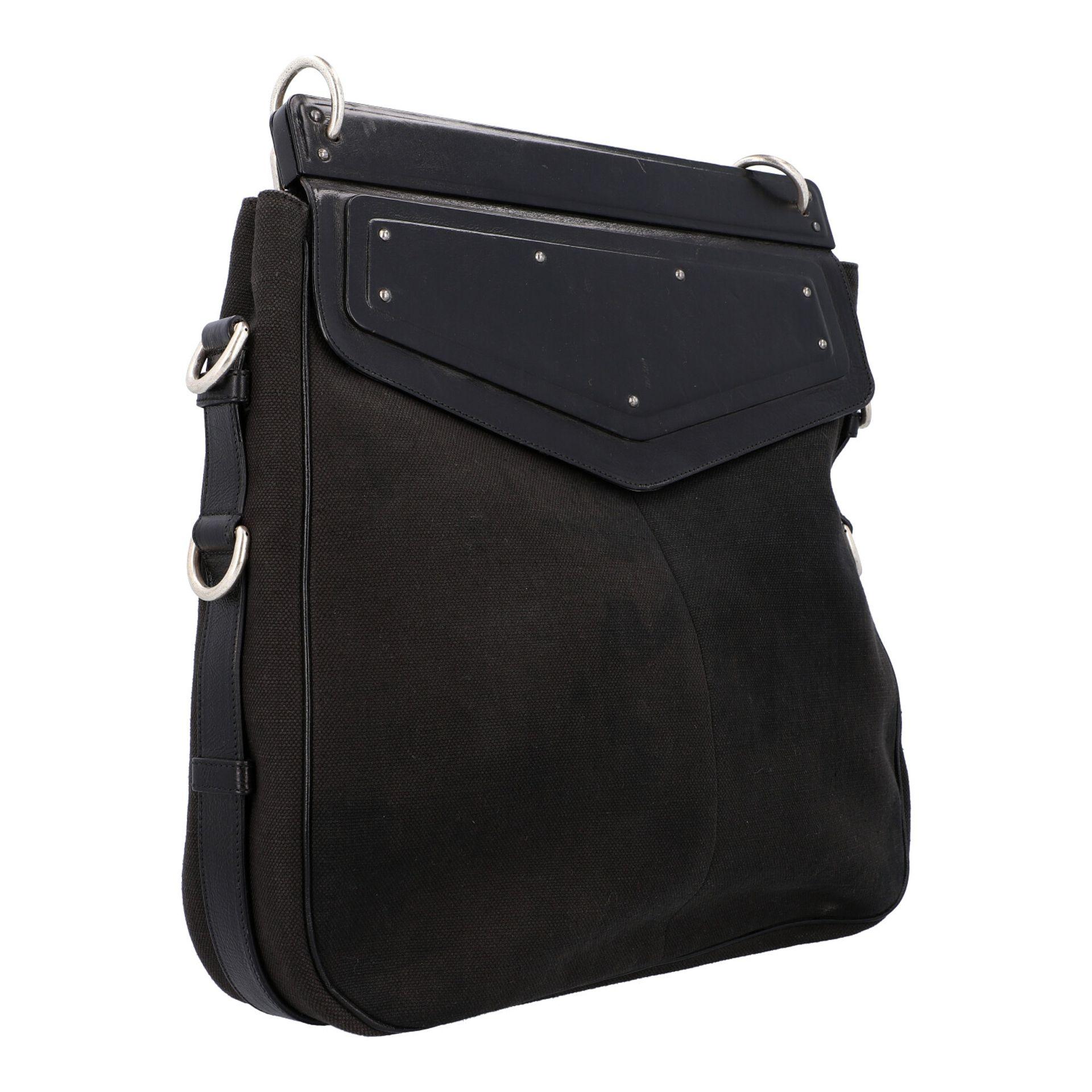 YVES SAINT LAURENT VINTAGE Handtasche. Schwarzes Modell aus Textil mit schwarzem Über - Image 2 of 8