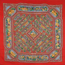 """HERMÈS Schal """"QALAMDAN"""", by Catherine Baschet, Entwurf erstmals erschienen 1990. 65%"""
