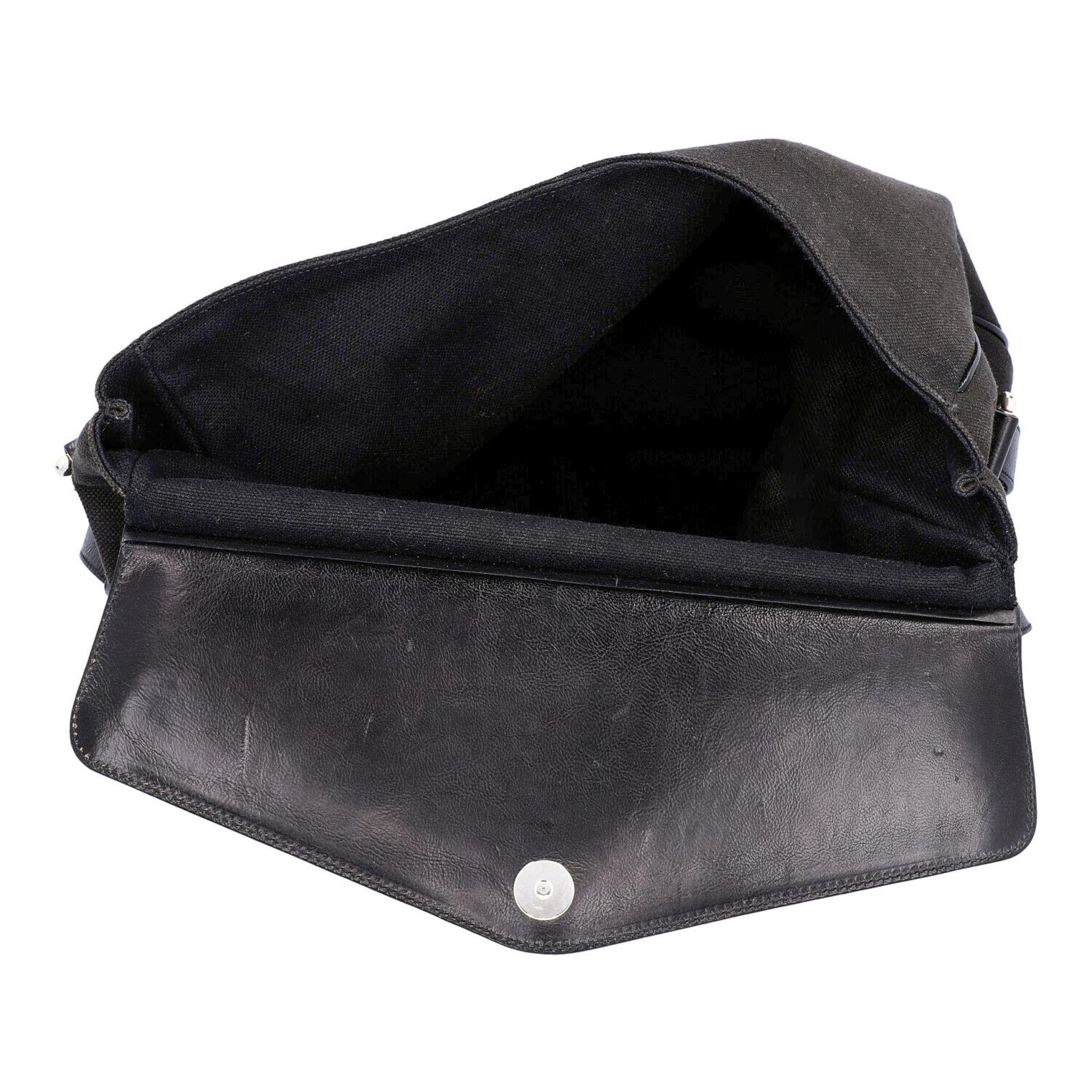 YVES SAINT LAURENT VINTAGE Handtasche. Schwarzes Modell aus Textil mit schwarzem Über - Image 6 of 8