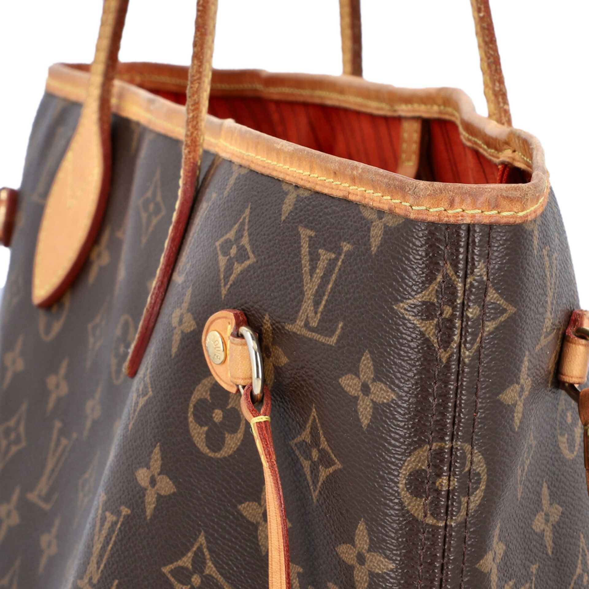 "LOUIS VUITTON Shoppertasche ""NEVERFULL MM"", Koll. 2014. Akt. NP.: 1150,-€. Monogram - Image 8 of 8"