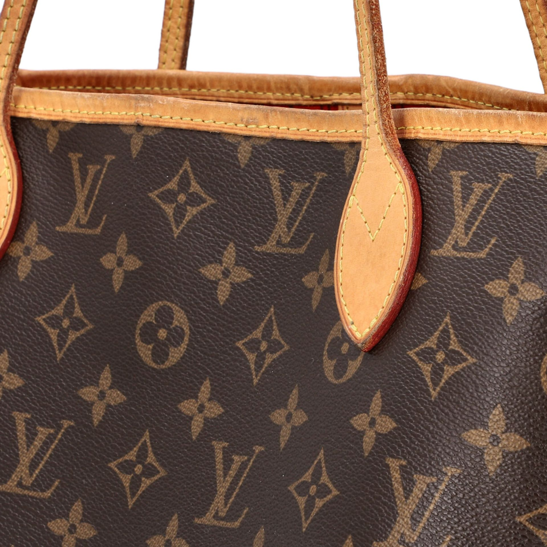 "LOUIS VUITTON Shoppertasche ""NEVERFULL MM"", Koll. 2014. Akt. NP.: 1150,-€. Monogram - Image 7 of 8"