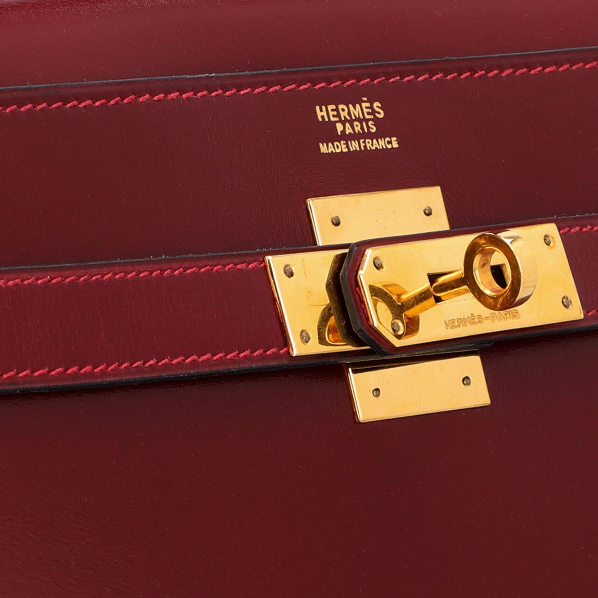 "HERMÈS VINTAGE Handtasche ""KELLY BAG 32"". Koll. 1980. NP. ca.: 8.000,-€. Boxcalf Le - Image 8 of 9"