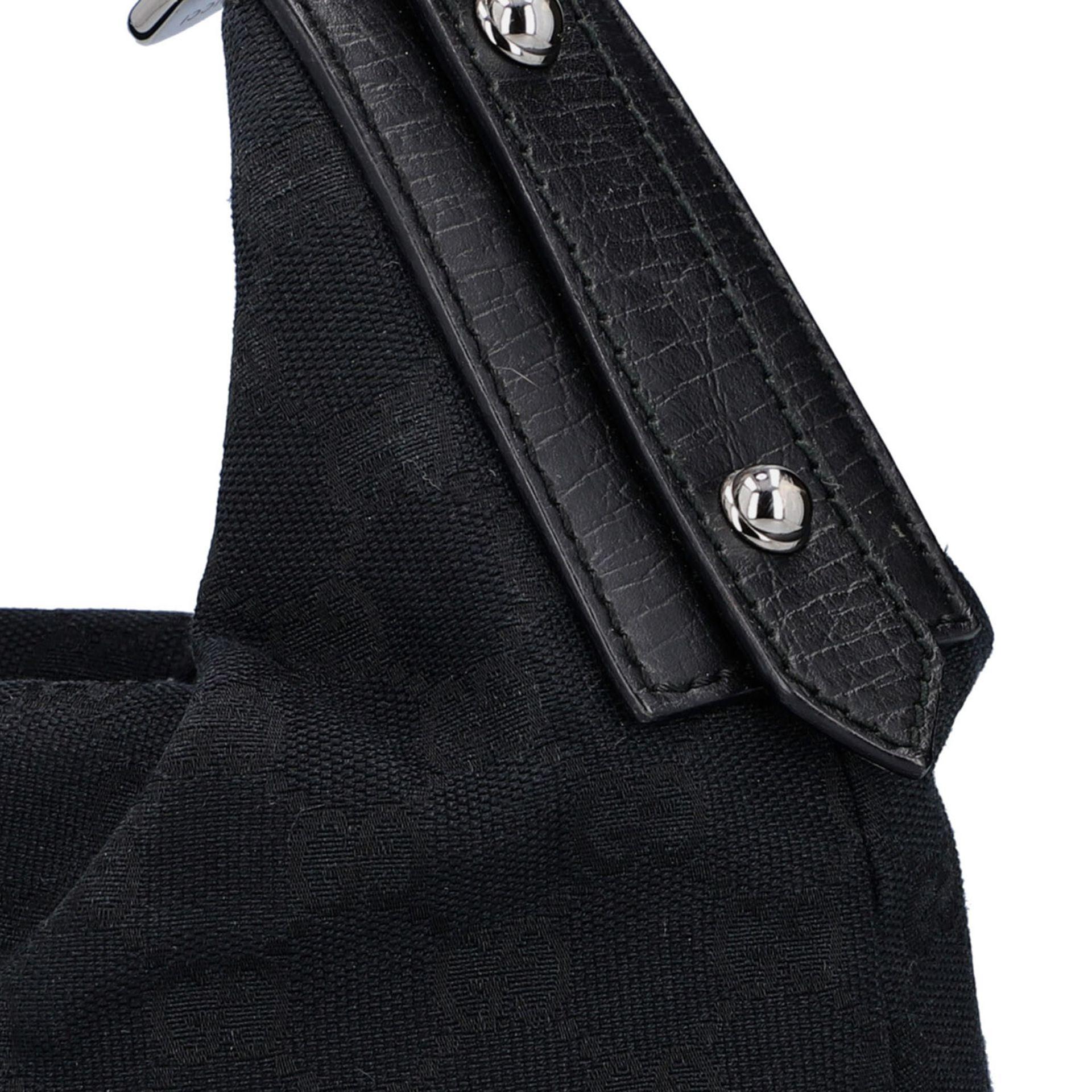 GUCCI Handtasche. Guccissima Design auf schwarzem Textil mit silberfarbener Hardware, - Image 7 of 8