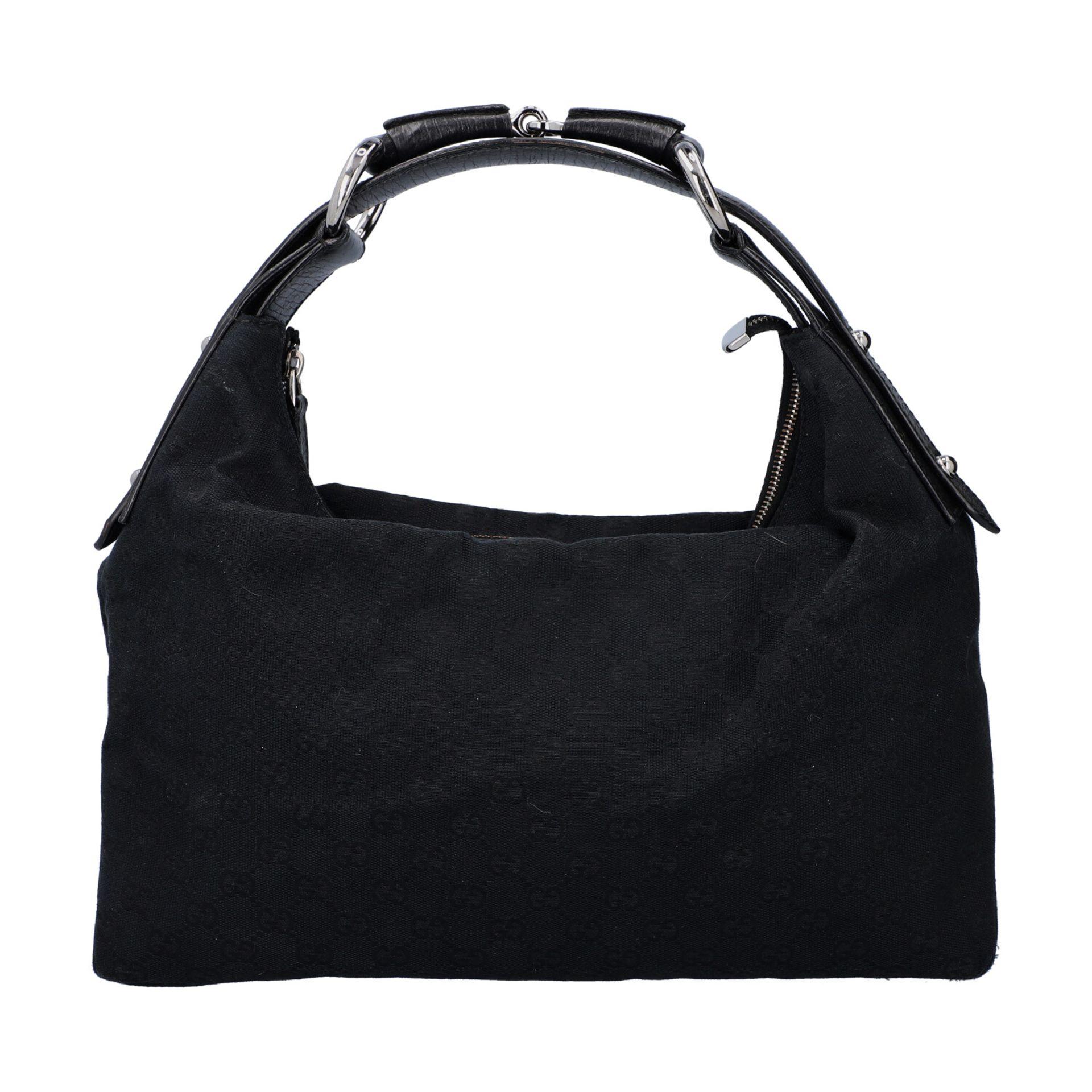 GUCCI Handtasche. Guccissima Design auf schwarzem Textil mit silberfarbener Hardware, - Image 4 of 8