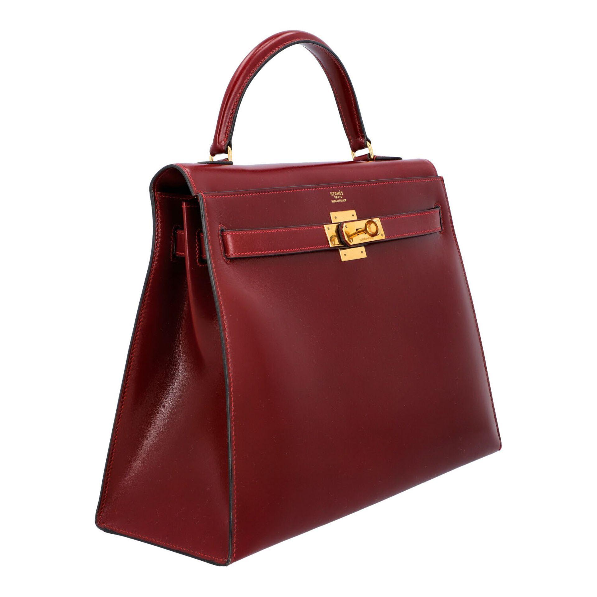 "HERMÈS VINTAGE Handtasche ""KELLY BAG 32"". Koll. 1980. NP. ca.: 8.000,-€. Boxcalf Le - Image 2 of 9"