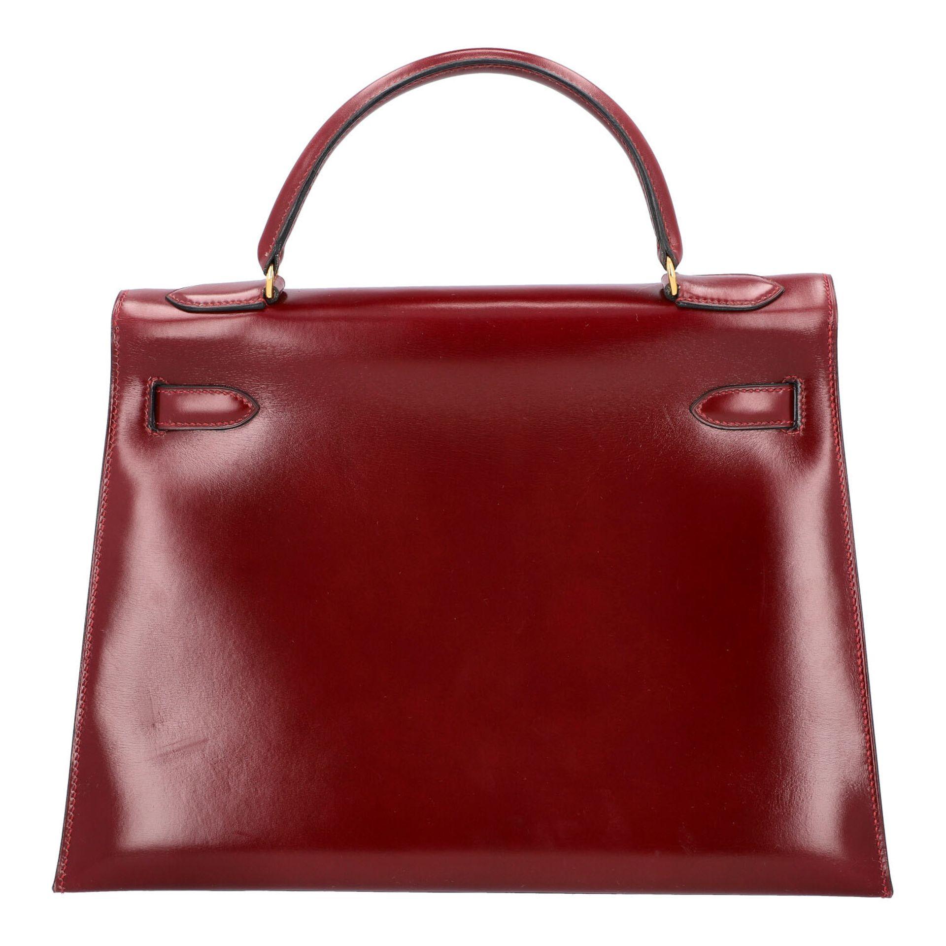 "HERMÈS VINTAGE Handtasche ""KELLY BAG 32"". Koll. 1980. NP. ca.: 8.000,-€. Boxcalf Le - Image 4 of 9"