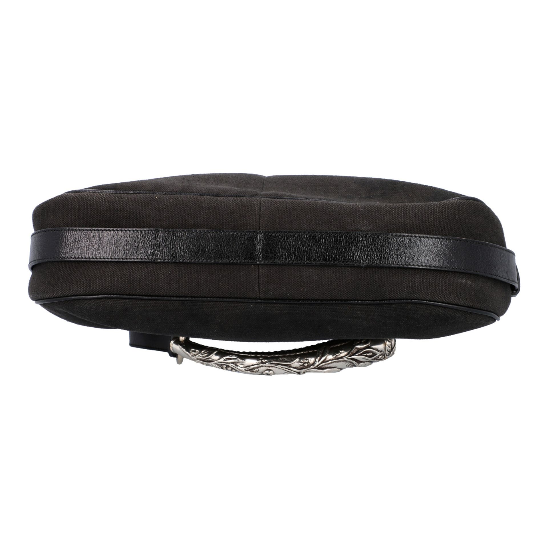 YVES SAINT LAURENT VINTAGE Handtasche. Schwarzes Modell aus Textil mit schwarzem Über - Image 5 of 8