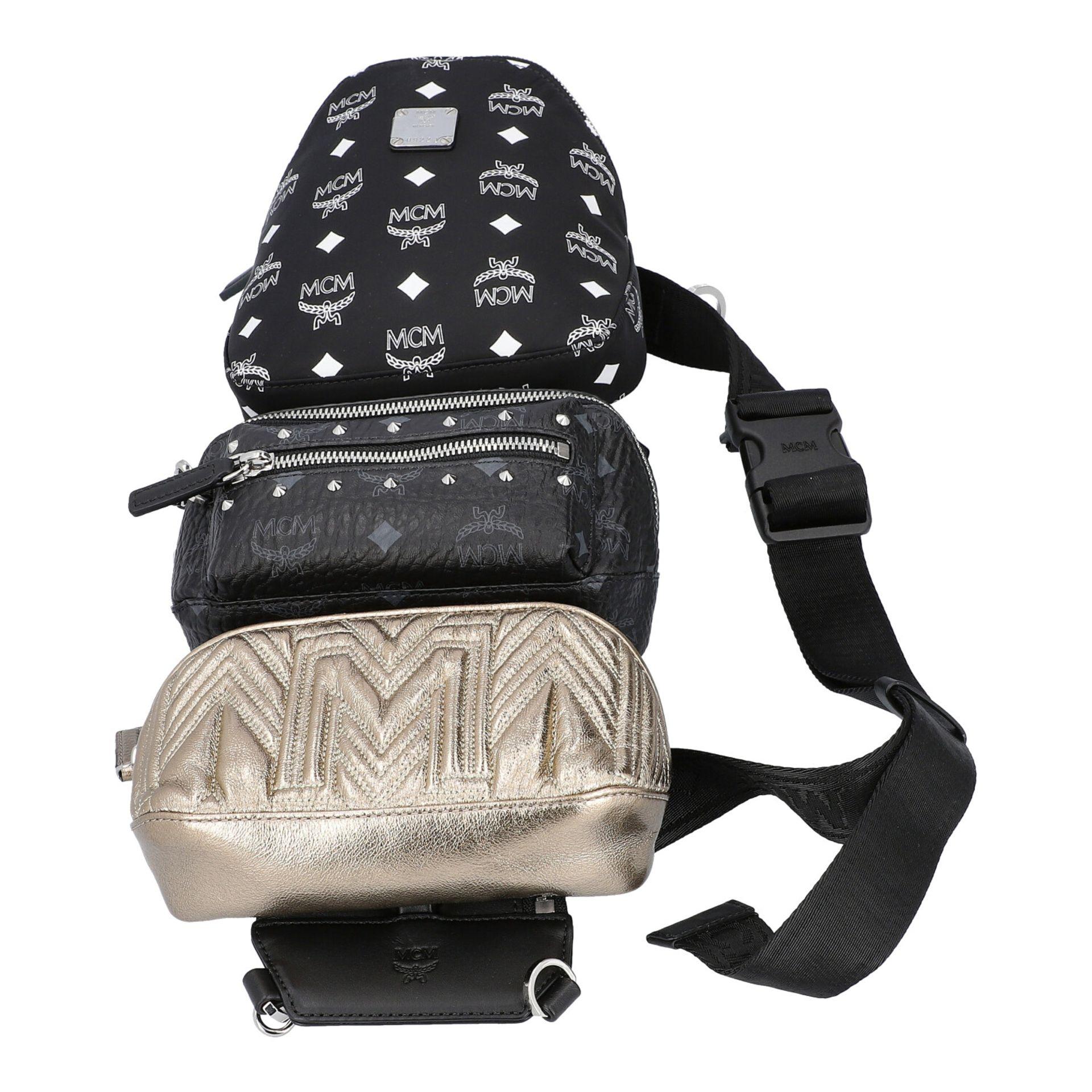 MCM Multi-Bag, akt. NP.: 995,-€. Dreifache Tasche bestehend aus drei einzelnen Model - Image 5 of 5