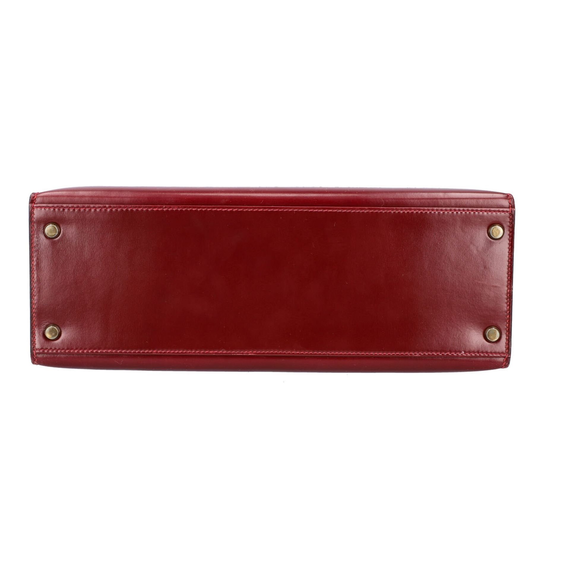 "HERMÈS VINTAGE Handtasche ""KELLY BAG 32"". Koll. 1980. NP. ca.: 8.000,-€. Boxcalf Le - Image 5 of 9"