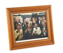 Tony Hart (British, 1925-2009). Framed photograph of Tony Hart, believed to have been taken at a