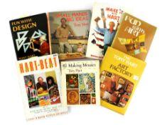 Tony Hart (British, 1925-2009). Seven hardback books, all signed by Tony Hart. Including 'The Tony