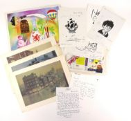 Tony Hart (British, 1925-2009). A collection of printed and photocopied material including: