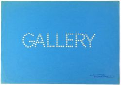 Tony Hart (British, 1925-2009). 'Gallery'. Cut out circular spots on card spelling out 'Gallery',