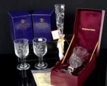 Royal Brierley Millenium Celebration limited edition crystal glass, boxed, and Wedgwood Royal