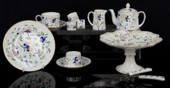 Coalport Pageant tea for 2 including cake stand, Coalport Wenlock Fruit teacups and saucers and