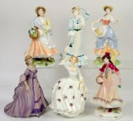 Royal Worcester Festive Country Days Noelle figurine, two Pastoral Collection figurines, Royal