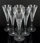 Set of 6 Waterford glasses for Jasper Conran, etched marks to base Surface marks, chip to rim of one