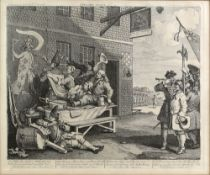 After William Hogarth (1697-1764), two reproduction prints France Plate 1, & England Plate 2