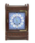 Lewis Foreman Day Aesthetic Movement clock, with Japanese style motifs and sunflower decoration,