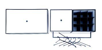 By Lassen Copenhagen, coat hanger and shoe storage unit, 71 x 35 x 35cm and 70 x 42 x 21cm
