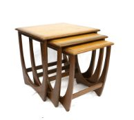 Victor B Wilkins for G plan, Fresco nest of three tables, largest H51 x W51 x D49.5cm
