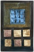 Troika calculator wall plaque, marked 'Troika St Ives England' and with artist's monogram 'SV' for