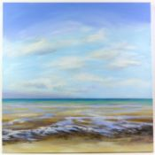 Sandra Francis (Contemporary British), 'Low Tide', acrylic on canvas, monogrammed 'SF' lower left,