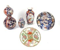 Collection of Asian ceramics and other ceramics, including Imari, European ice pail,