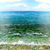 Sandra Francis (Contemporary British), 'Sunlight on the Sea', acrylic on canvas, monogrammed 'SF'