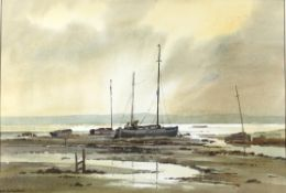 Keith Burtonshaw (1930-2008), 'Morning Light, Overy Staithe', watercolour, signed lower left,