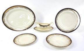 Myott and Son part dinner service, marked ROYALTY BTU Sold on behalf of Woking and Sam Beare
