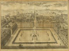 After Sutton Nicholls, 'Sohoe or King's Square', published according to Act of Parliament 1754 for