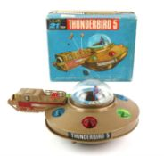 Thunderbirds JR 21 Toy Thunderbirds 5, in brown plastic, plastic figure, in original box with inner