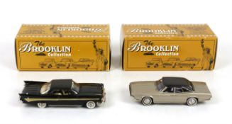 Eight Brooklin Collection 1:43 scale model vehicles, comprising BRK 72, 1958 Shasta Airflyte Travel