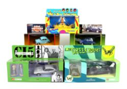 Corgi boxed TV, Film and Artist-Related models including 57401 The Professionals,