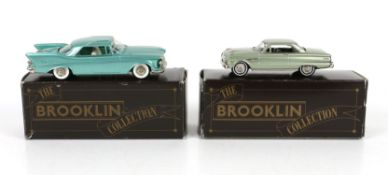 Seven Brooklin Collection 1:43 scale model vehicles, comprising BRK 58, 1963 1/2 Ford Falcon Sprint,