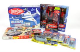 Captain Scarlet Toys including Electronic Angel Interceptor, Puzzle by King, two Carlton talking