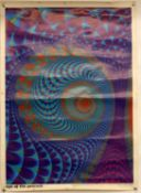 3 x Psychedelic posters including Eye of the Peacock 1996, Turbulent-Hydrodynamic 1993,