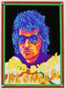 Bob Dylan - Blonde On, Original poster artwork by John Judkins, signed & dated '69', flat,