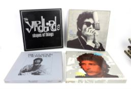 A group of 21 CD and vinyl box sets including Eric Clapton Crossroads, Bob Dylan Biograph,
