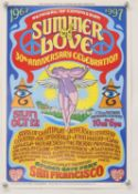 A group of 8 posters for the Summer of Love festival 30th and 40th anniversary celebrations in 1997