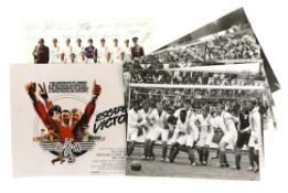 Escape To Victory (1981) 12 x Black and white 10 x 8 inch film stills with synopsis on reverse and